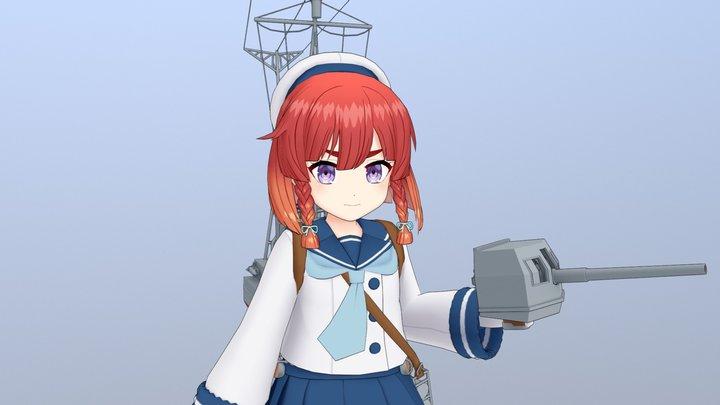 艦これの択捉 3D Model
