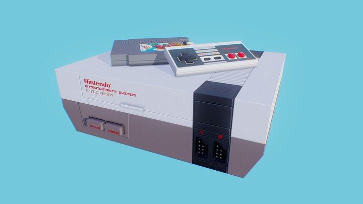 NES Console 3D Model