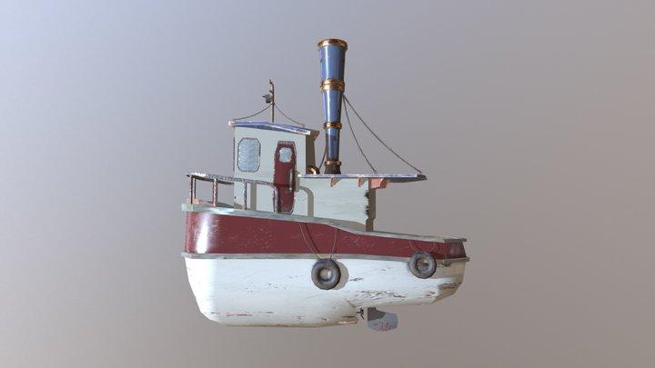 Fishing Boat Textured 3D Model