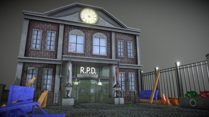 Resident Evil 3 RPD 3D Model