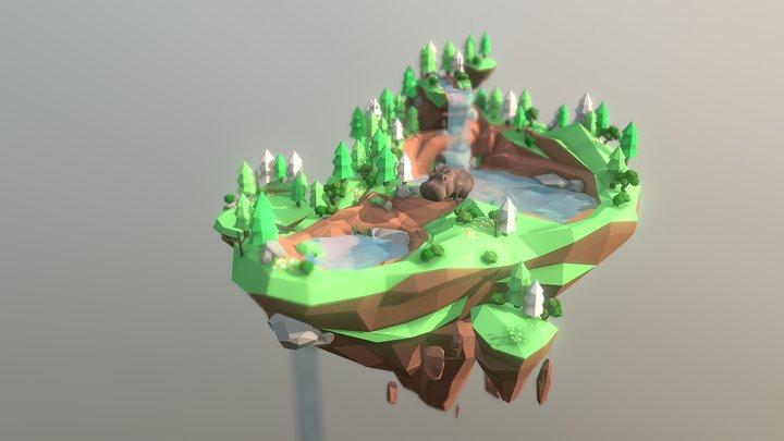 hippopot_islond 河馬島 3D Model