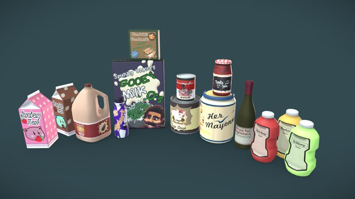 SAMW: Packaged Super Store Products 3D Model