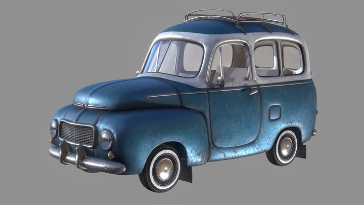 Volvo station wagon 3D Model
