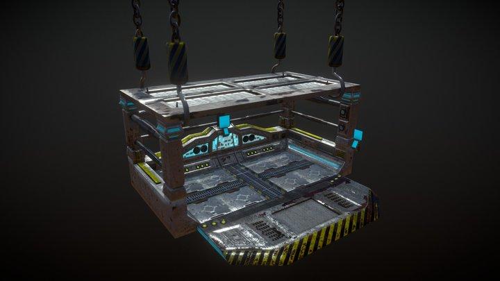 Scifi Elevator 3D Model