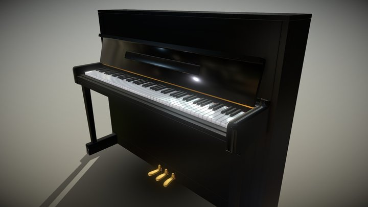 Upright Piano (WIP) 3D Model