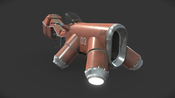 "hovercycle: ""the old reliable"" 3D Model"