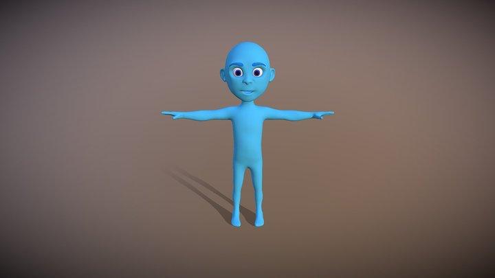 Small Kid Blue 005 3D Model