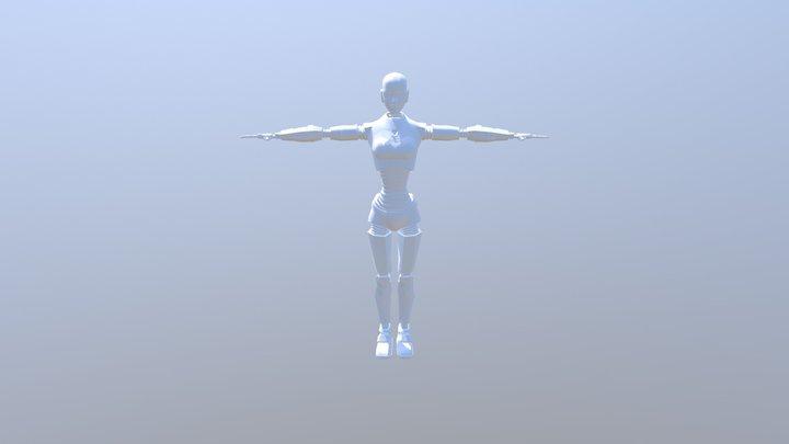Robotwoman Obj 3D Model