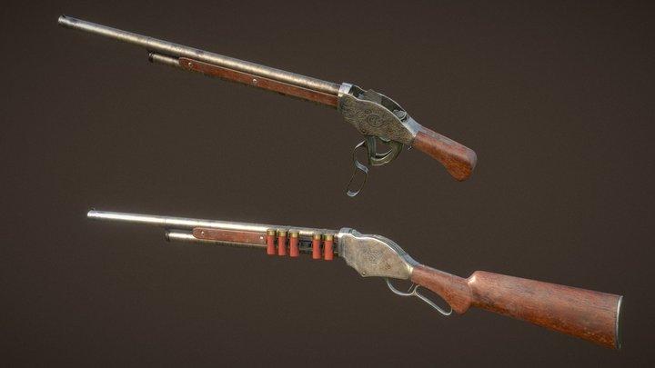 Winchester model 1887 3D Model