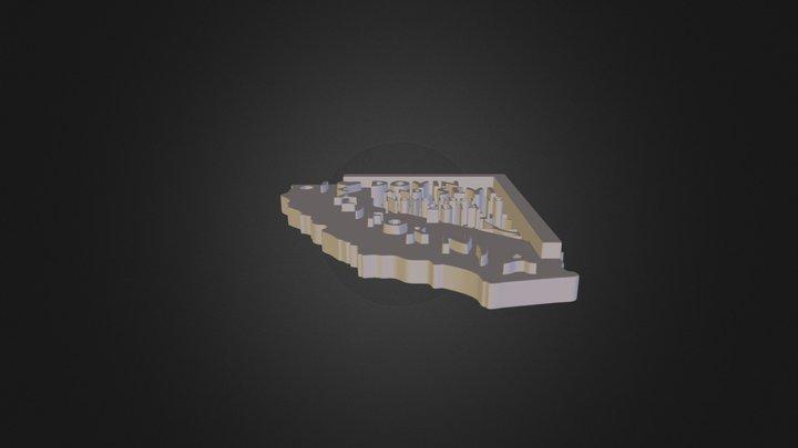 I heart California Announcement 3D Model