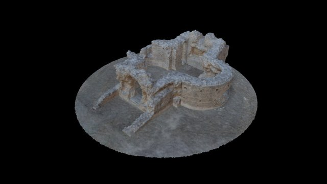 """The roman mausoleum so-called """"the Synagogue"""" 3D Model"""