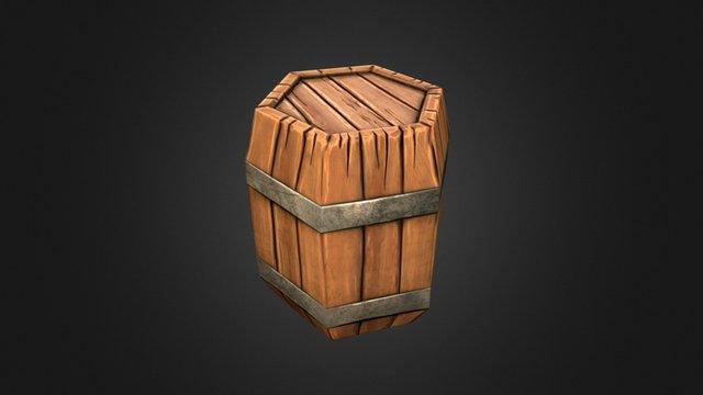 Stylized barrel (Low-Poly) 3D Model