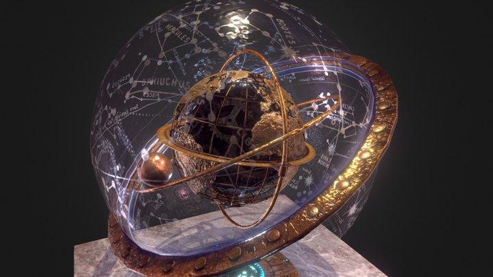 Steampunk Earth 3D Model
