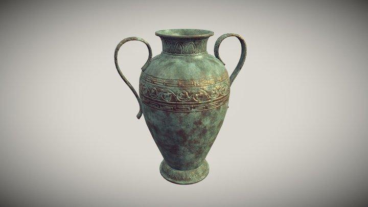 Antique Bronze Vase 3D Model