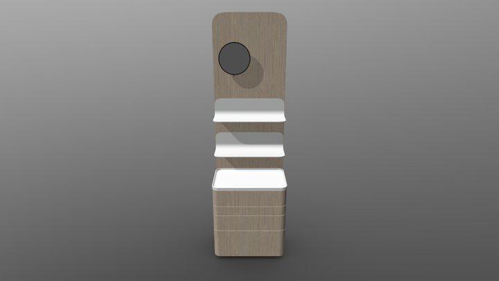 Foglia Panel Rafli Aynali - Light Gray 3D Model