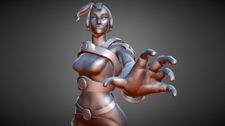 Helma - Overwatch Fan Character 3D Model