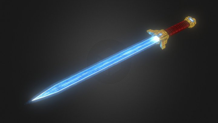 Dragon Fang Sword 3D Model