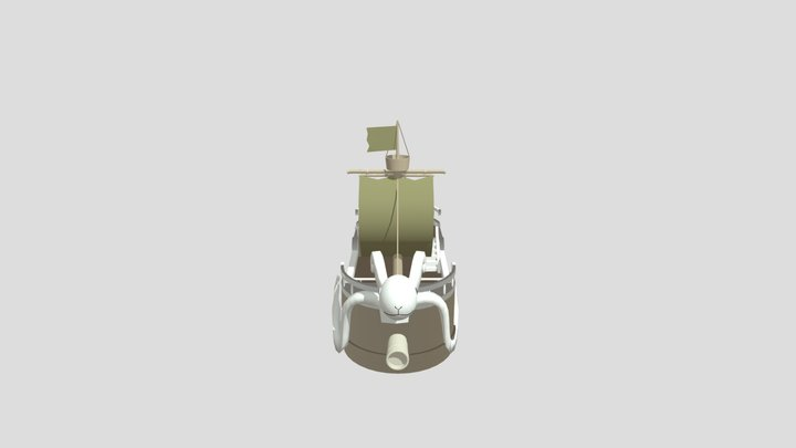 One Piece Ship Going Merry 3D Model 3D Model