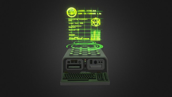 Retro Sci-Fi Holocomputer 3D Model
