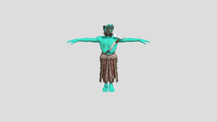 Rotuko's brother Alien 3D Model