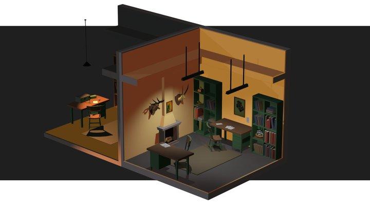 Secret Room 3D Model