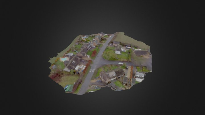 Aerial House Scan 3D Model