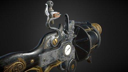 Tigerfish FlintlockGrenade Launcher 3D Model