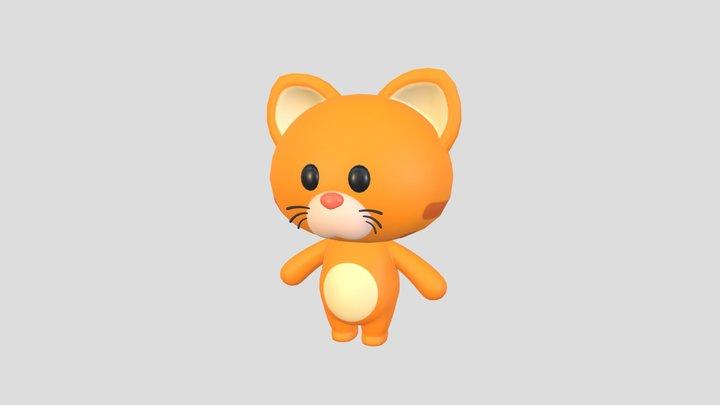 Character006 Cat 3D Model