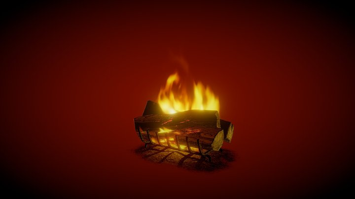 Animated fire 3D Model
