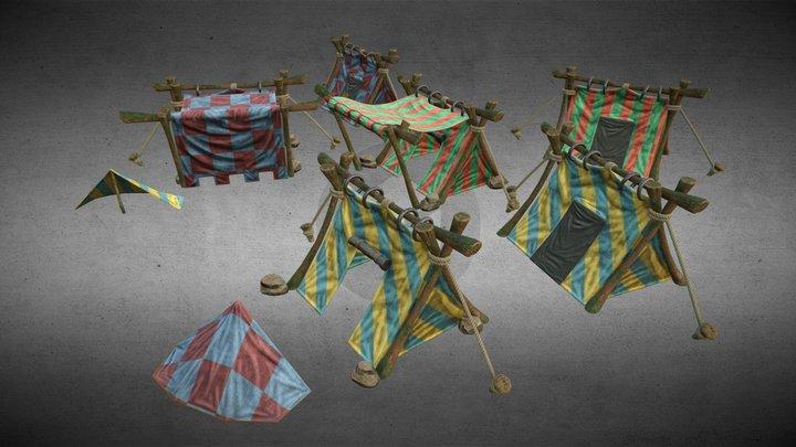 Tents Pack Volume 1 3D Model