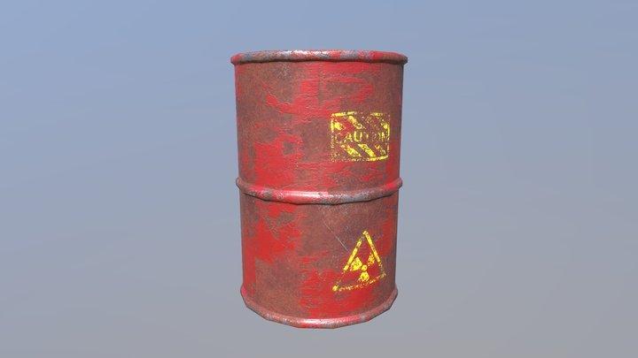 PBR Dangerous Barrel 3D Model