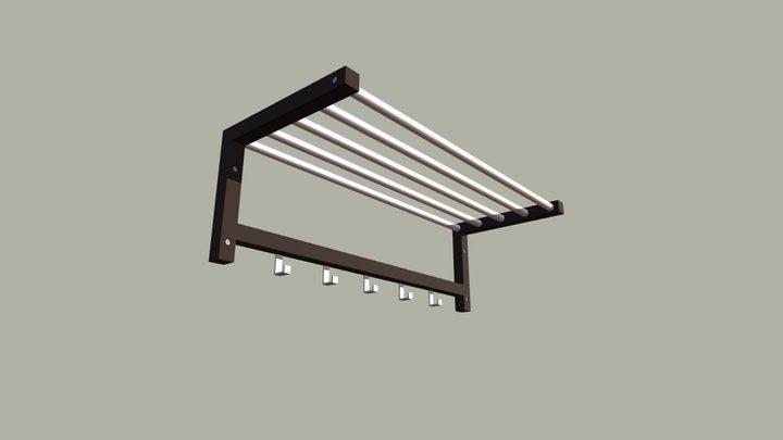 IKEA TJUSIG Coat Rack / Hat Rack 3D Model