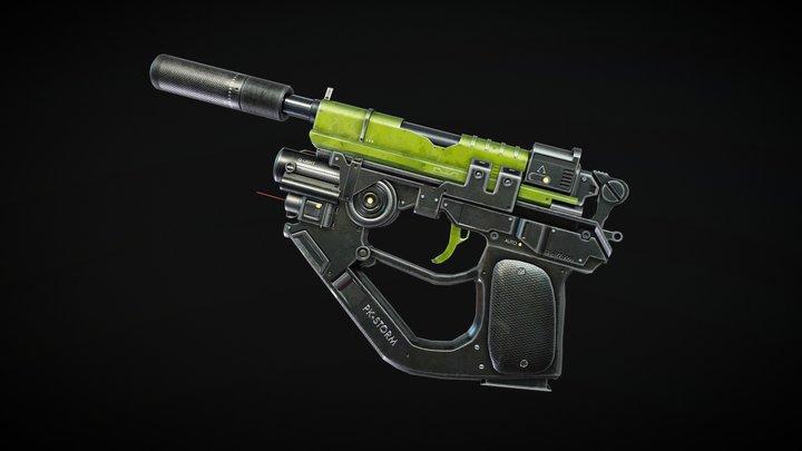 Advanced Pistol 3D Model