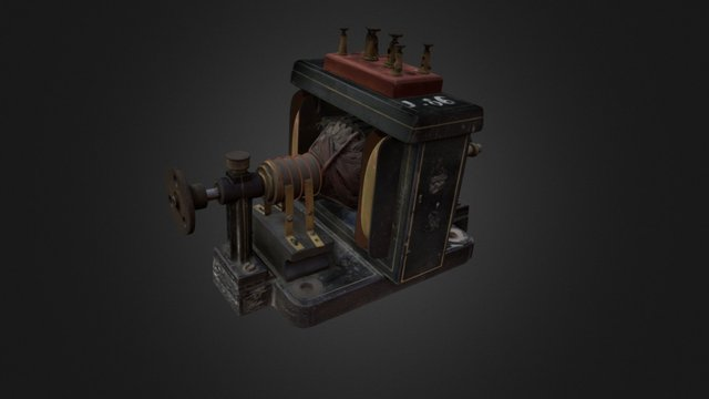 3D engine of the museum of Houille Blanche 3D Model