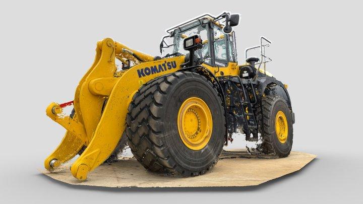 Komatsu WA 500 Wheel Loader 3D Model