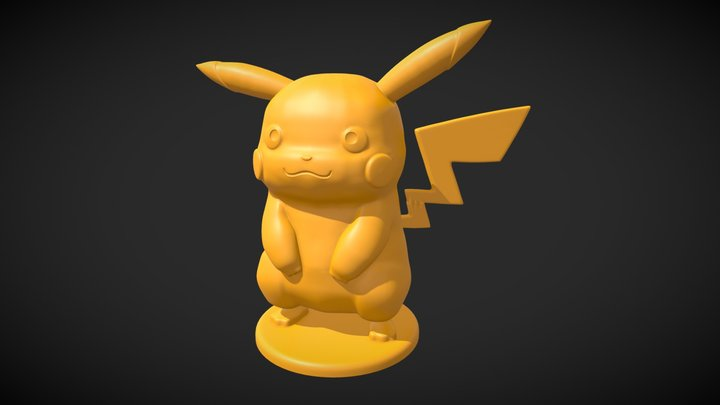 Pikachu for 3D printing 3D Model