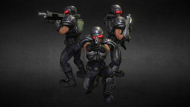 Marines 3D Model