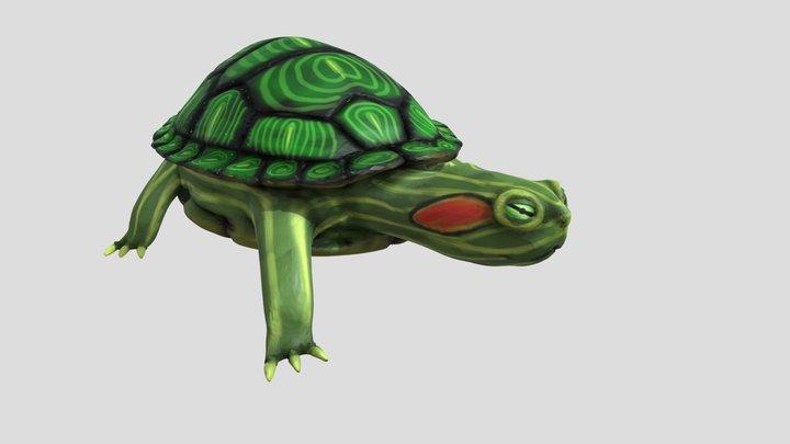 Red Ear Slider Turtle (Sculpt) 3D Model