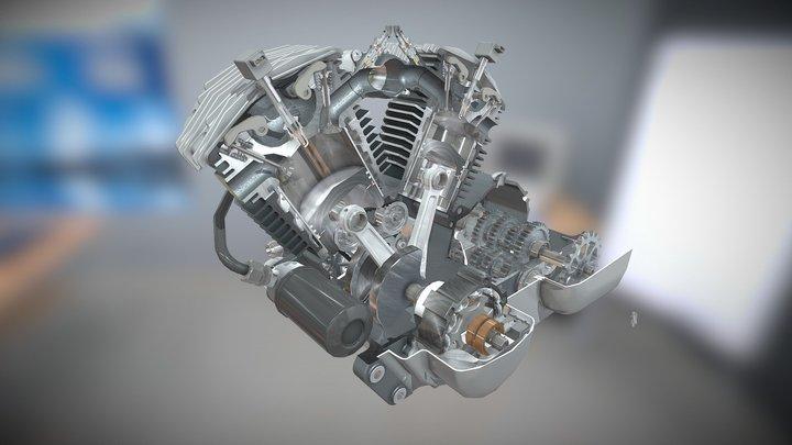 Internal Combustion Engine Moto 3D Model