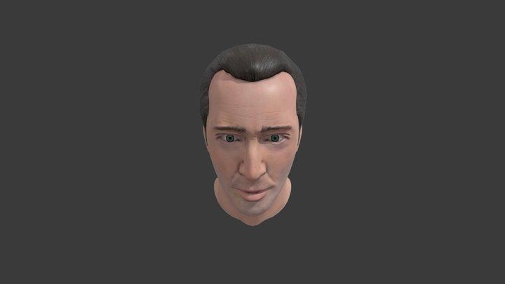 Nicolas Cage Bust 3D Model