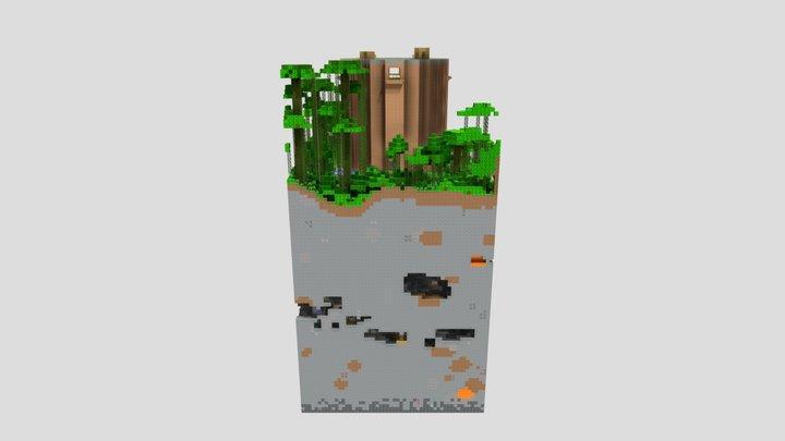 Hidden Jungle Tower 3D Model