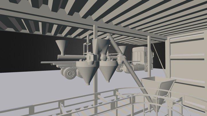 Carrossel de Placas de Gesso 3D Model