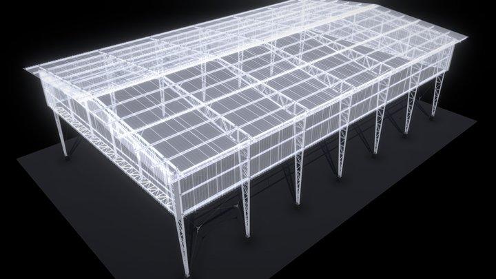 70 - COBERTURA EM ESTRUTURA METÁLICA 3D Model