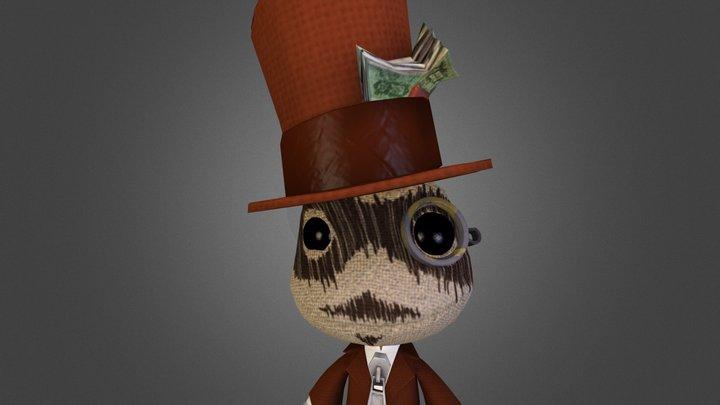 Sackboy Gentleman Thief 3D Model