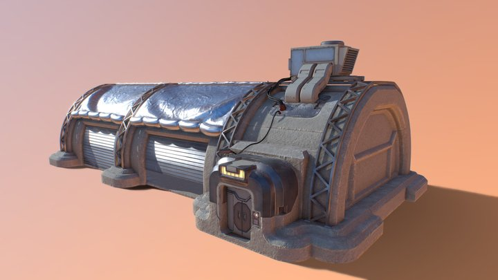 Desert Planet Bunker Garage Thing 3D Model