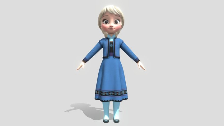 Little Emy 3D Model
