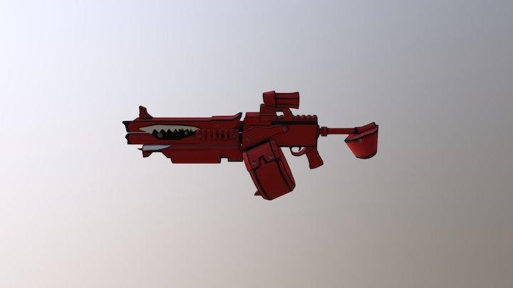 Red Rifle Borderlands 2 3D Model