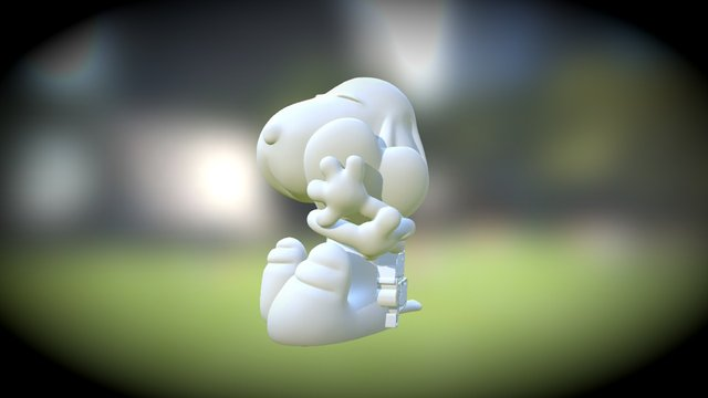 Snoopy Love 3D Model