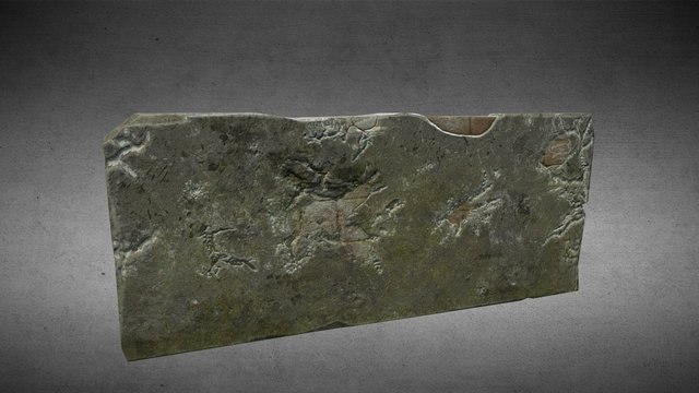 damaged concrete wall 3D Model