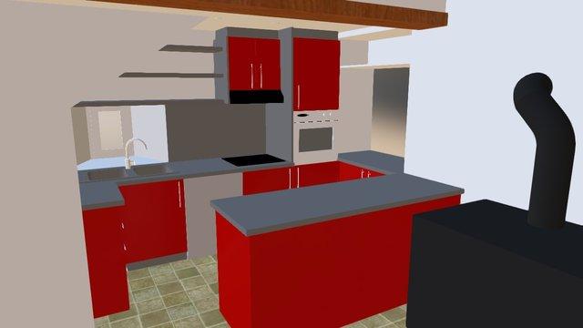 Cuisine Sam Et Gwen 3D Model
